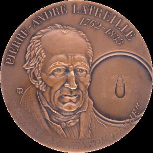 """[cml_media_alt id='1305']Médaille de Pierre-André Latreille (1762-1833) """"Prince de l'entomologie"""".[/cml_media_alt]"""